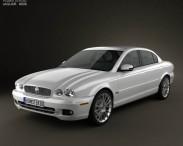3D model of Jaguar X-Type saloon 2009