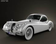 3D model of Jaguar XK120 coupe 1953