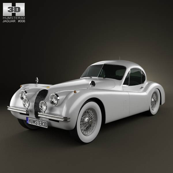 Jaguar XK120 coupe 1953 3d car model