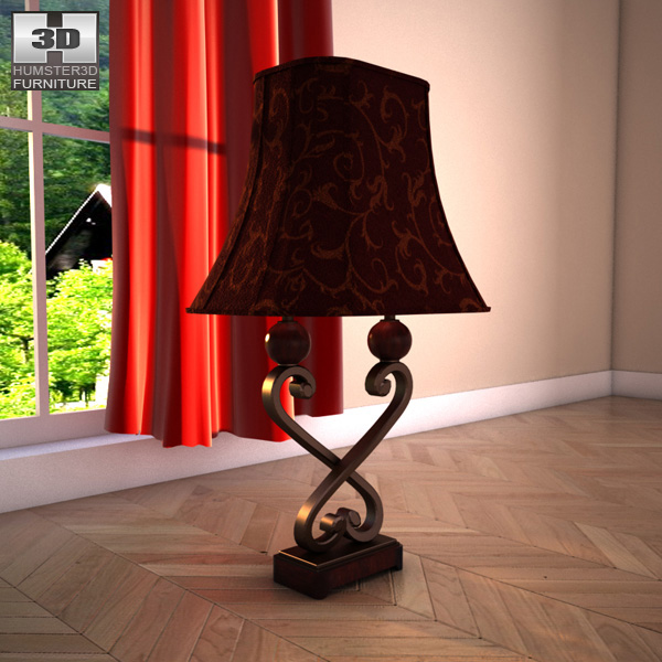 Ashley Key Town Table Lamp 3d model