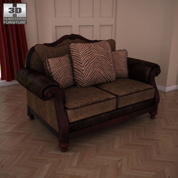 Ashley Key Town Loveseat 3d model