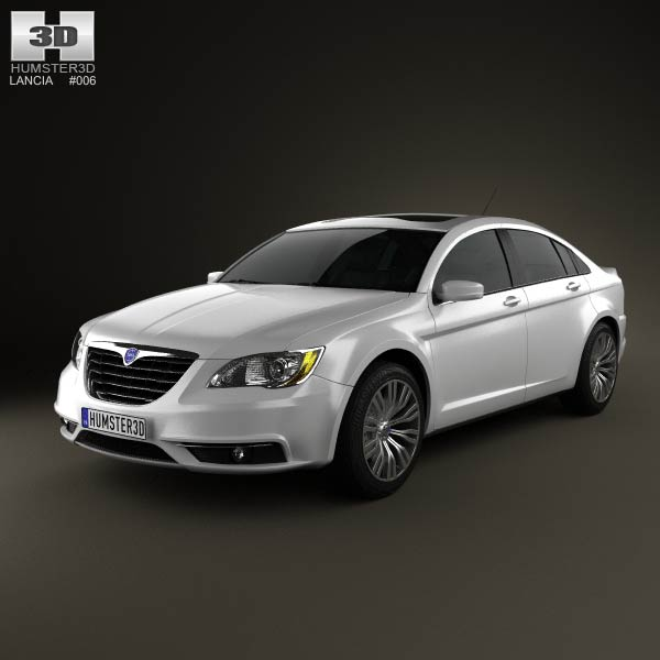 Lancia Flavia sedan 2012 3d car model