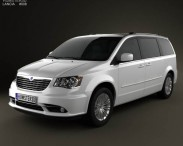 3D model of Lancia Voyager 2012