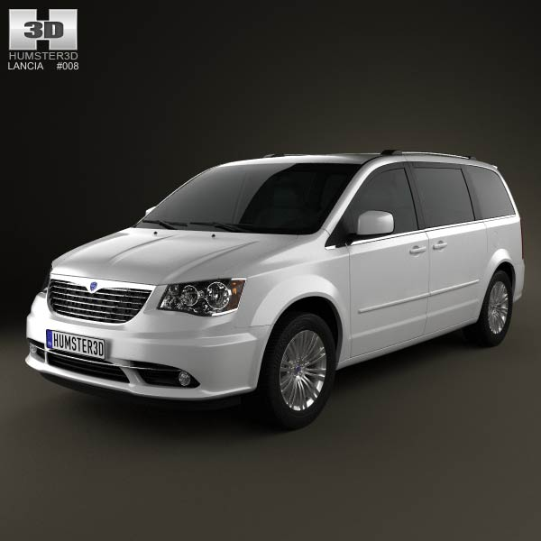 Lancia Voyager 2012 3d car model