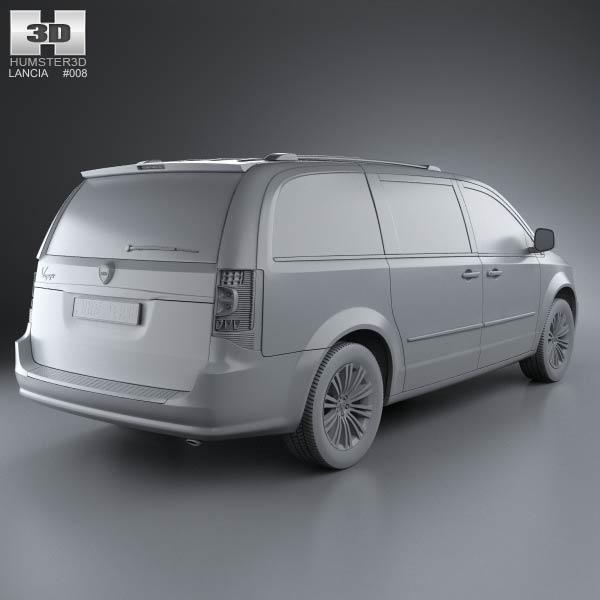 lancia voyager 2012 3d model humster3d. Black Bedroom Furniture Sets. Home Design Ideas