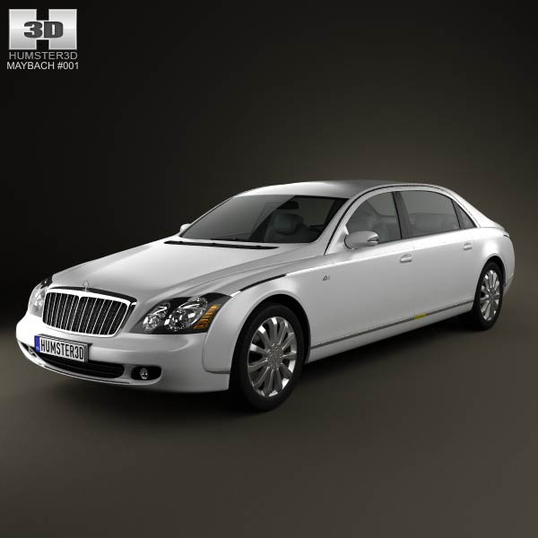 Maybach 62S 2011 3d car model