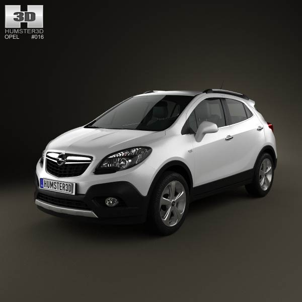 Opel Mokka 2013 3d car model
