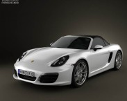 3D model of Porsche Boxster 981 2013
