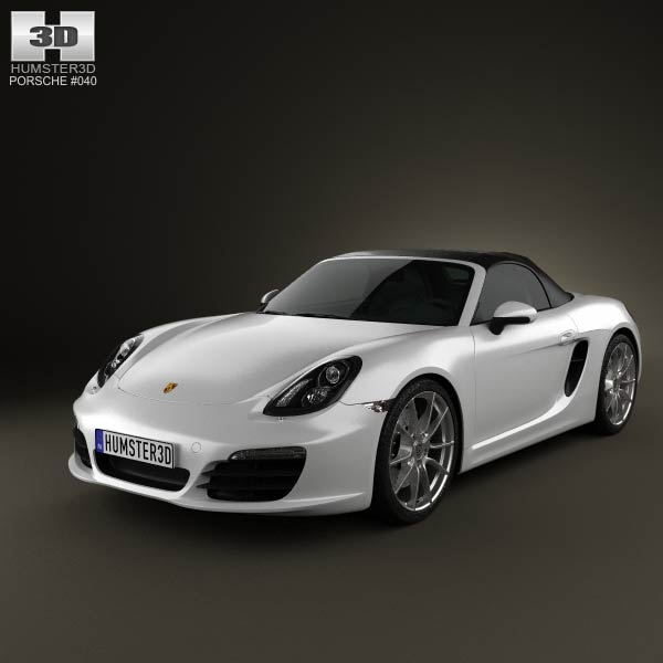 Porsche Boxster 981 2013 3d car model