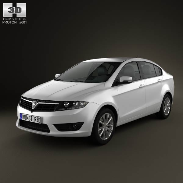 Proton Preve 2012 3d car model