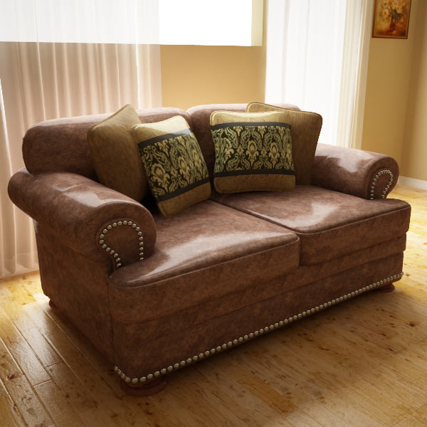 Ashley Ralston Loveseat 3d model