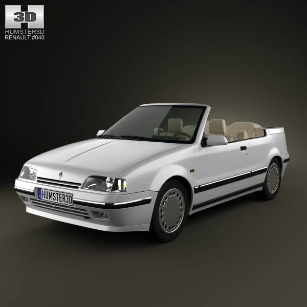 Renault 19 convertible 1988 3d car model