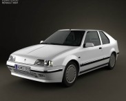 3D model of Renault 19 3-door hatchback 1988