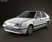 3D model of Renault 19 5-door hatchback 1988