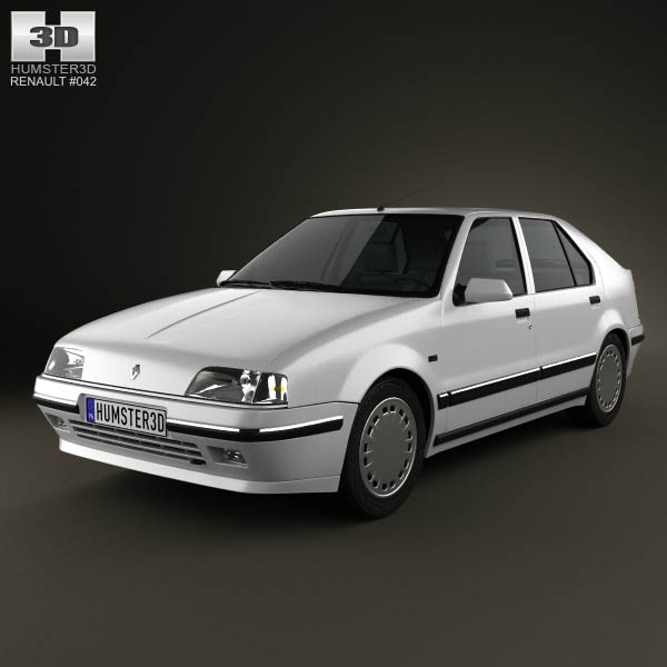 Renault 19 5-door hatchback 1988 3d car model