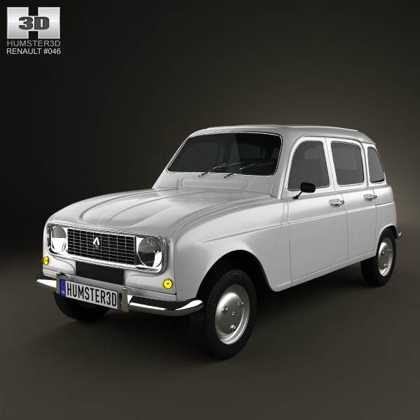 Renault 4 (R4) hatchback 1974 3d car model