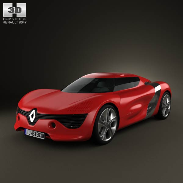 Renault DeZir 2010 3d car model