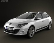 3D model of Renault Megane Estate 2011