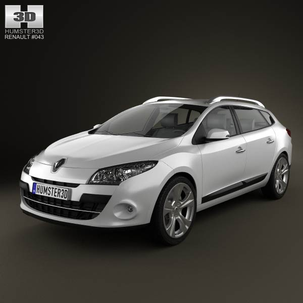 Renault Megane Estate 2011 3d car model