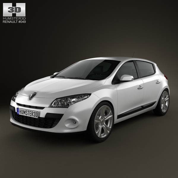 Renault Megane hatchback 2011 3d car model