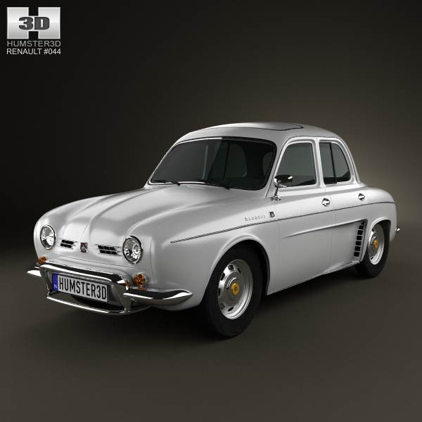 Renault Ondine (Dauphine) 1956-1967 3d car model