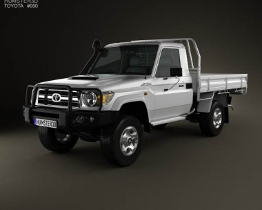 3D model of Toyota Land Cruiser (J70) Pickup GXL 2008