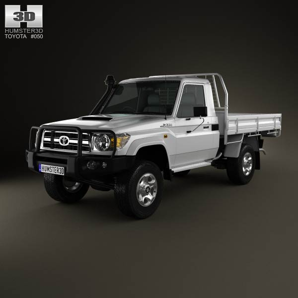 Toyota Land Cruiser (J70) Pickup GXL 2008 3d car model