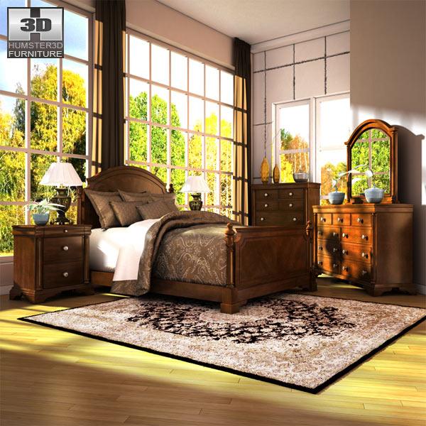 ashley leighton poster bedroom set 3d model humster3d