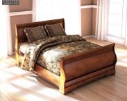 3D model of Ashley Wilmington Queen Sleigh Bed