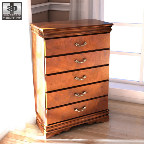 Ashley Wilmington Chest 3d model
