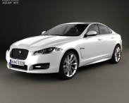 3D model of Jaguar XF 2012