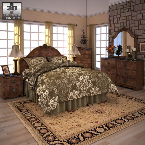 Ashley Buckingham Panel Bedroom Set 3d model