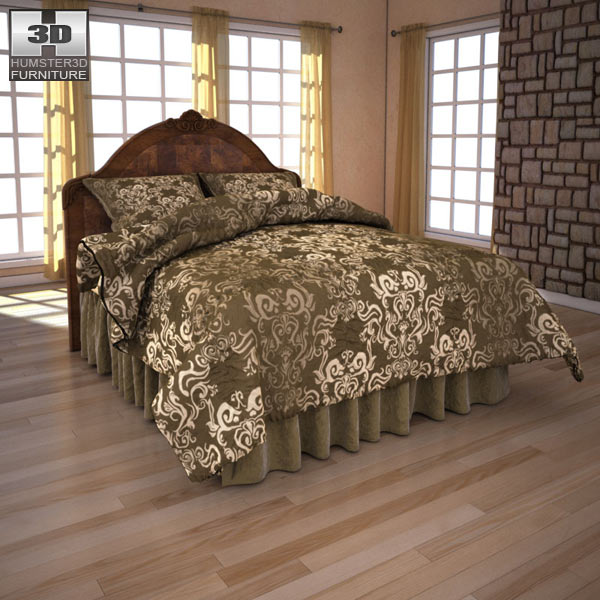 Ashley Buckingham Queen Panel Headboard Bed 3d model