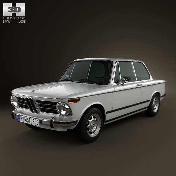 BMW 2002 1968 3d car model