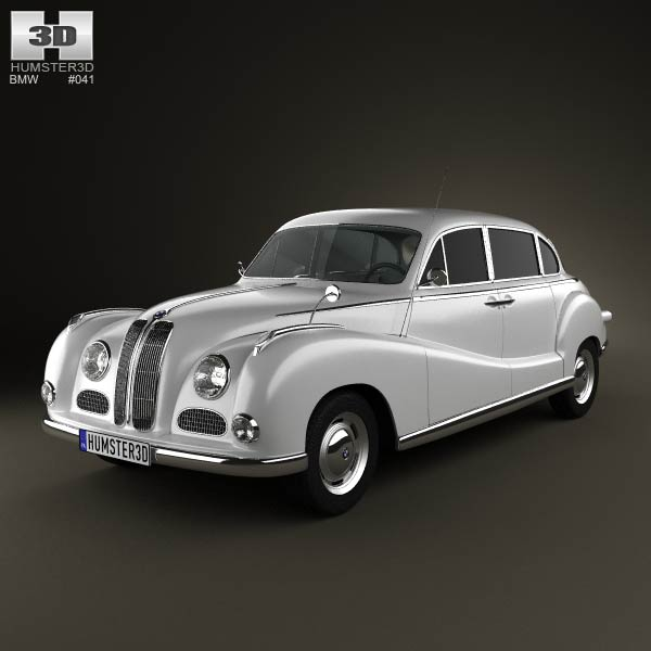 BMW 501 Saloon 1952 3d car model