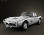3D model of BMW 507 coupe 1959