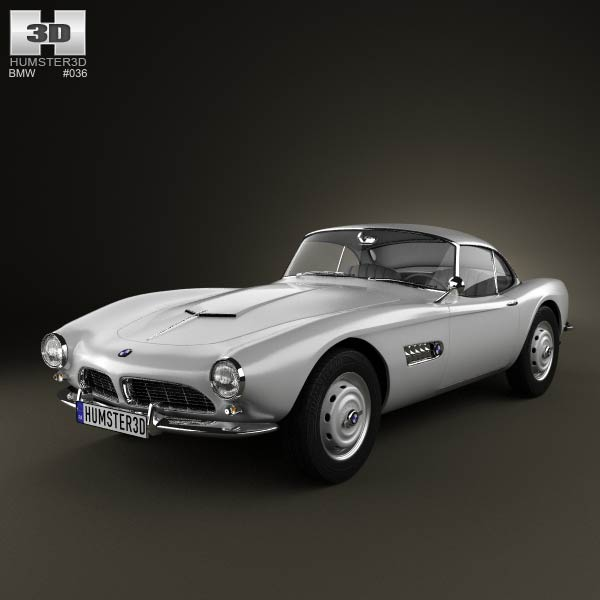 BMW 507 coupe 1959 3d car model