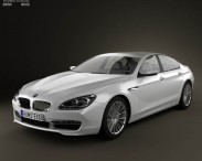 3D model of BMW 6 Series Gran Coupe (F14) 2012