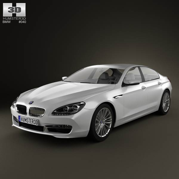 BMW 6 Series Gran Coupe (F14) 2012 3d car model