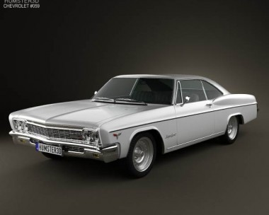 3D model of Chevrolet Impala SS Sport Coupe 1966