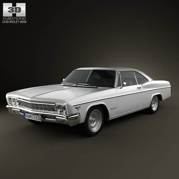 Chevrolet Impala SS Sport Coupe 1966 3d car model