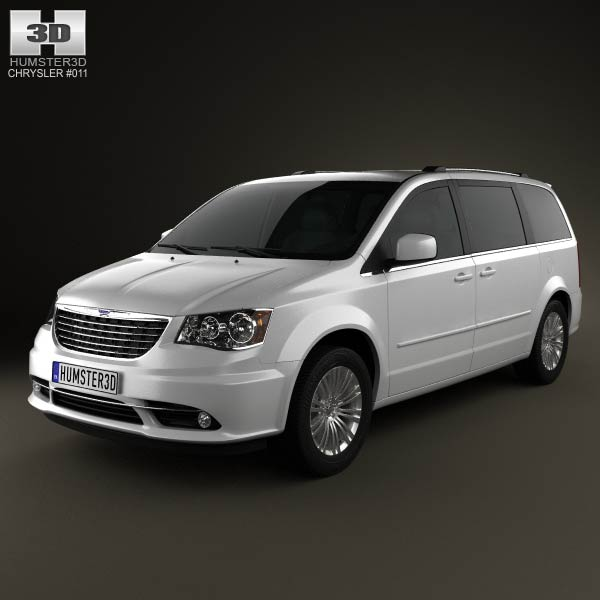 Chrysler Town & Country 2012 3d car model