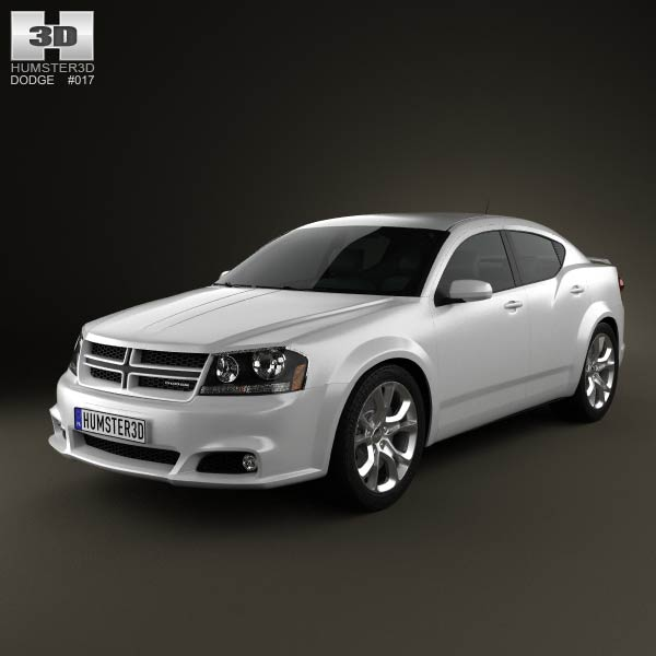 Dodge Avenger RT 2012 3d car model