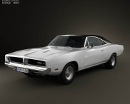 3D model of Dodge Charger RT 1969