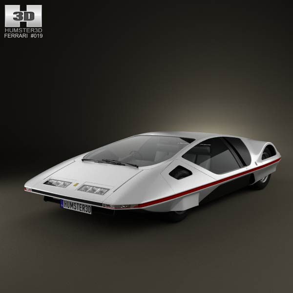 Ferrari 512 S Modulo 1970 3d car model