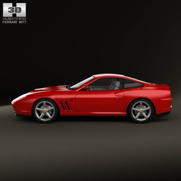 Ferrari 575M Maranello 2002-2006 3D Model download (3ds max, obj ...