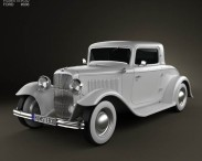 3D model of Ford Model B De Luxe Coupe V8 1932