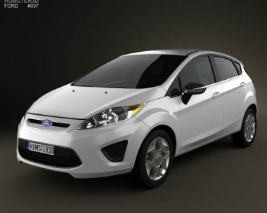 3D model of Ford Fiesta Hatchback 5-door (US) 2012