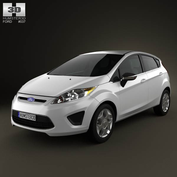 Ford Fiesta Hatchback 5-door (US) 2012 3d car model