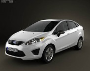 3D model of Ford Fiesta Sedan (US) 2012